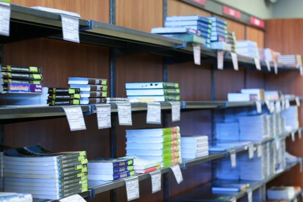 Textbooks for sale or rent in the Ann Ross Bookstore at APSU. Philip Sparn | News Editor