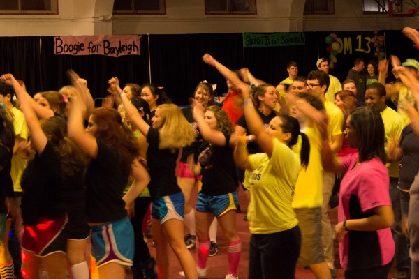 Dance marathon participants dancing to help raise money that will go to the Monroe Carrel Jr. Children's Hospital at Vanderbilt | Contributed by Stephen Kemp