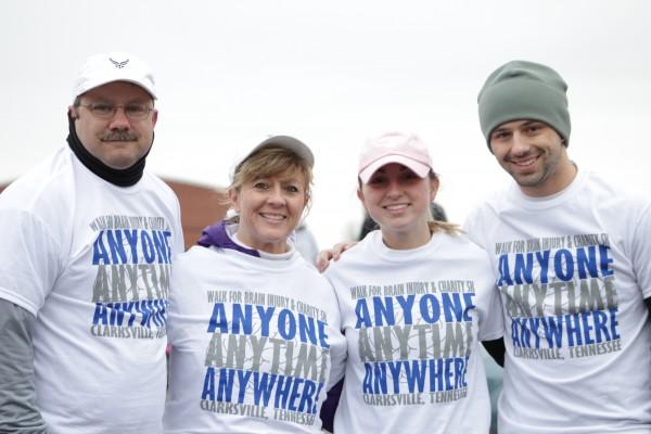 John Blanton, Dawn Blanton, Kateherine Blanton and John Wesley pose after participating in the Clarksville Walk for Brain Injury. Brittaney Abbott | staff photographer