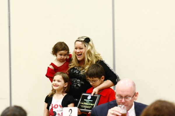 Angela Rood who has a Bachelor of Science in Radiologic Technology honored her three children. Janay Neal | Staff Photographer