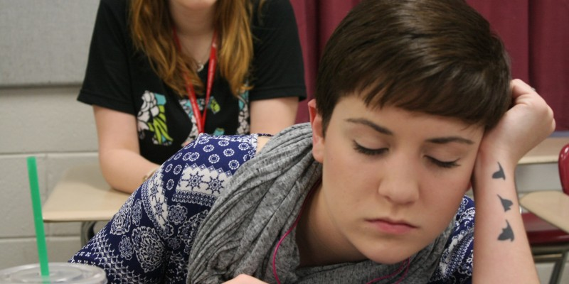 Students snooze school away