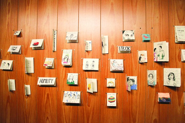 The Words Are Hard exhibit in Trahern on Monday, March 30, 2015.