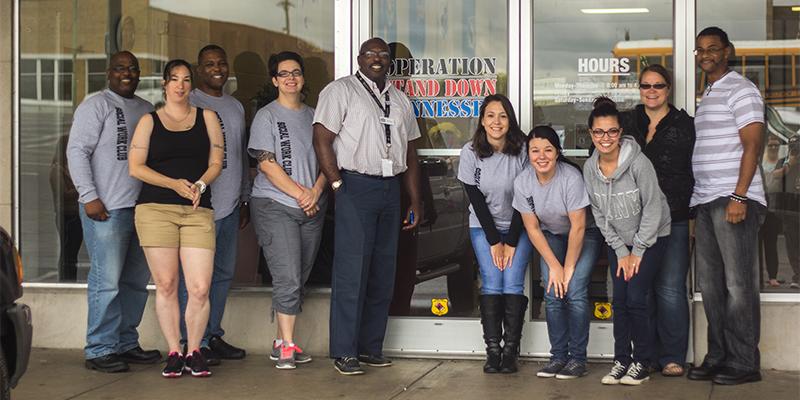 Social Work Club and Golden Key Honors Society assist homeless veterans