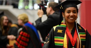 Miss APSU 2015 Elizabeth Upshur received her Bachelor of Arts in the College of Arts and Letters at the 87th Commencement Ceremony on Friday, May 6. Photo credit: Dani Hunter