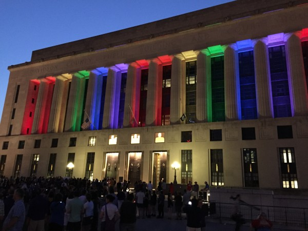 A candlelight vigil was held at Public Square Park in Nashville, Tenn. on Sunday, June 12, in memory of the victims of the Pulse Orlando nightclub shooting.