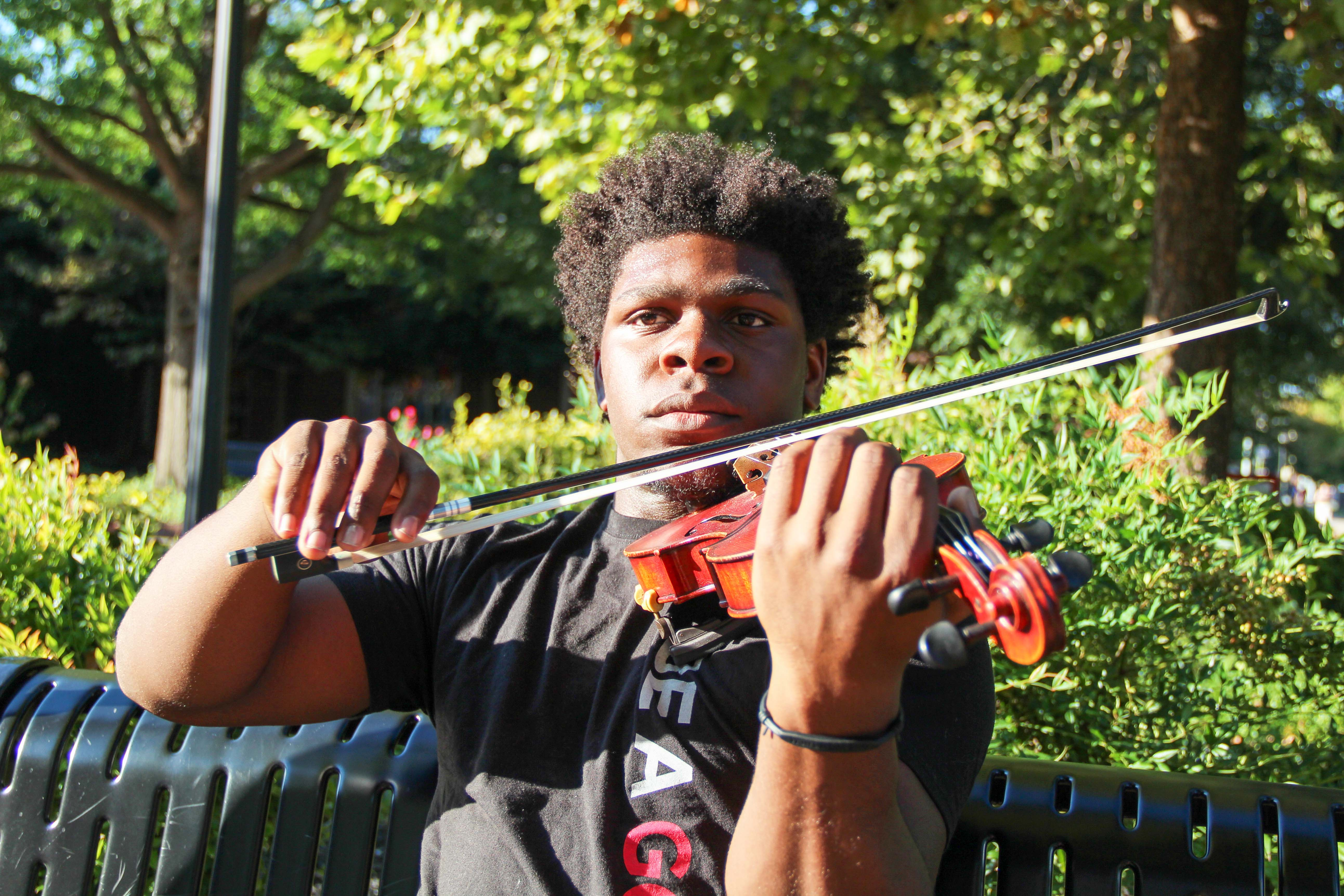 Violin Man' plays music for campus community – The All State