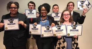 Members of The All State's editorial board pose for a photo with their awards from the Southeast Journalism Conference. CONTRIBUTED PHOTO | PATRICK ARMSTRONG