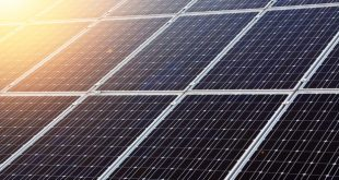 Stock image of solar panels