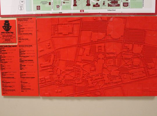 Tactile: 3D printing brings campus map to life