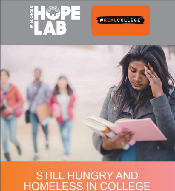 Cover of most current research report on Hunger and homelessness on College campuses