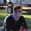 Bobby Head sits with a mask on during his summer league season with the Winter Garden Squeeze. SUBMITTED