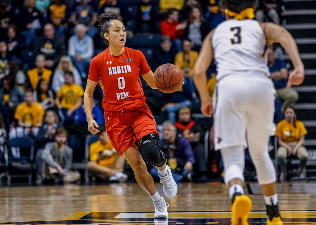 Senior Tahanee Bennell takes the ball upcourt against Murray State last season. CARDER HENRY | APSU SPORTS INFORMATION