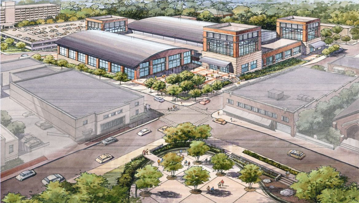 A rendering displays the exterior of Clarksville's newest Multi-Purpose Event Center. | SUBMITTED