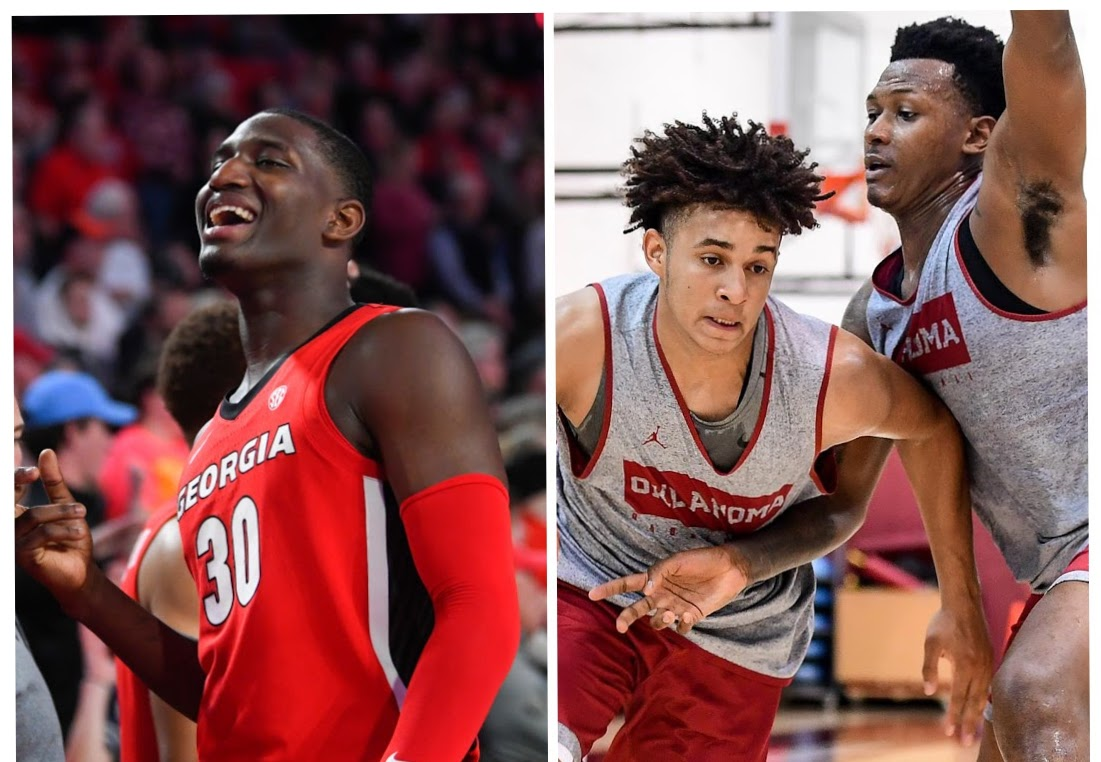 Mike Peake (left) and Corbin Merritt (right) aim to add depth to the APSU front court during the 2021 season. | PHOTOS FROM UGA & OU SPORTS INFORMATION