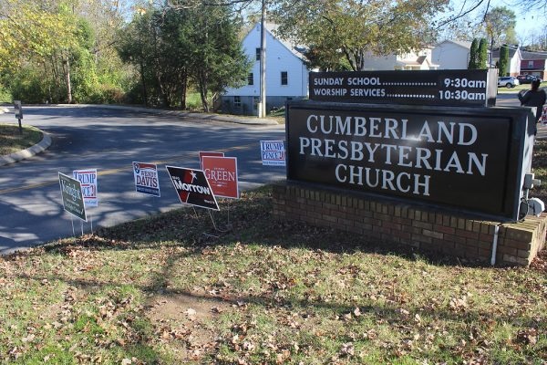 APSU Alum Richard Swift serves as a Poll Official at Cumberland Presbyterian Church. KELSEY STORY | THE ALL STATE