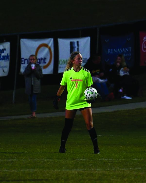 Goalkeeper Katie Bahn views down the field during a game for the Commandos .  | SUBMITTED BY KATIE BAHN