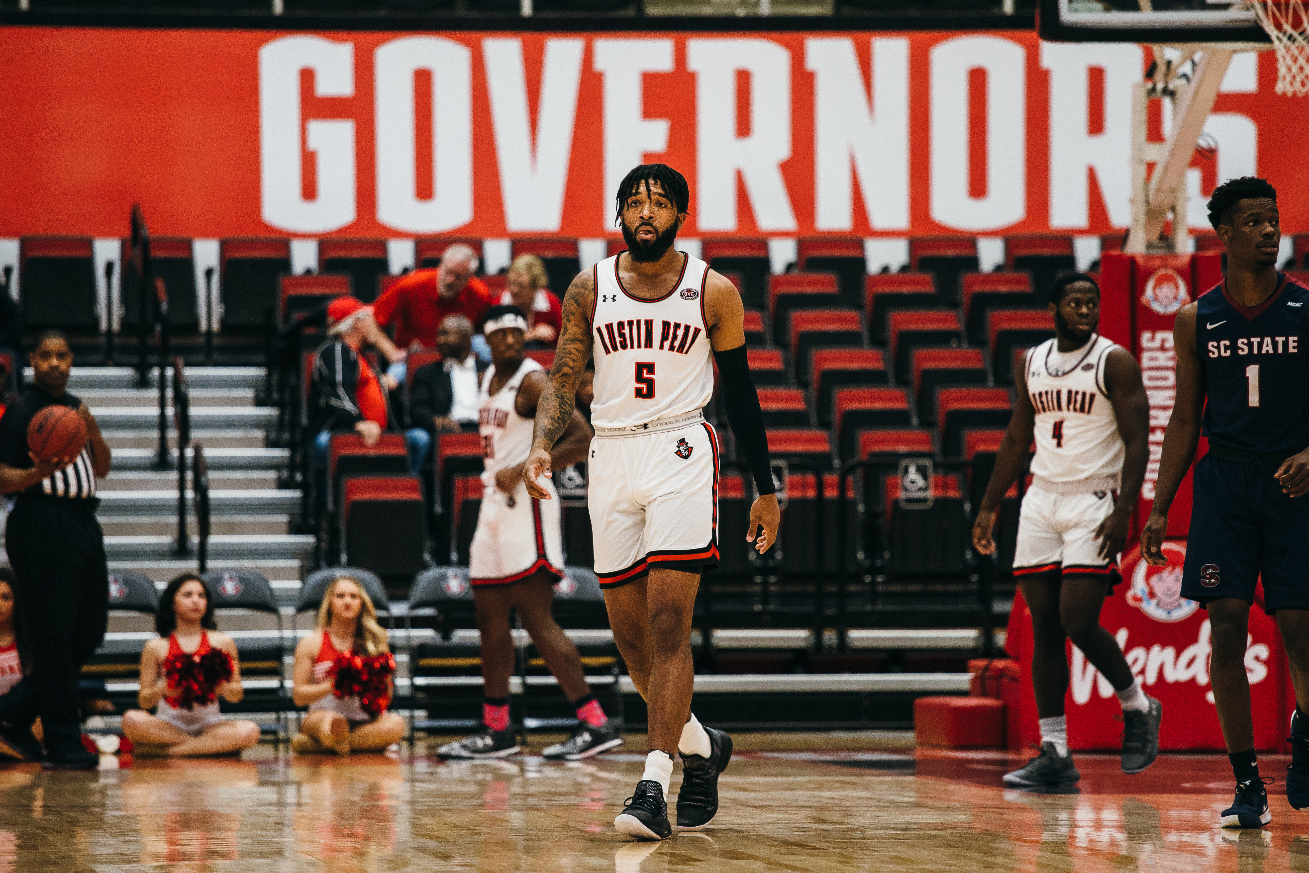 Jordyn Adams walks off the floor during a game against SC State. | THE ALL STATE ARCHIVES