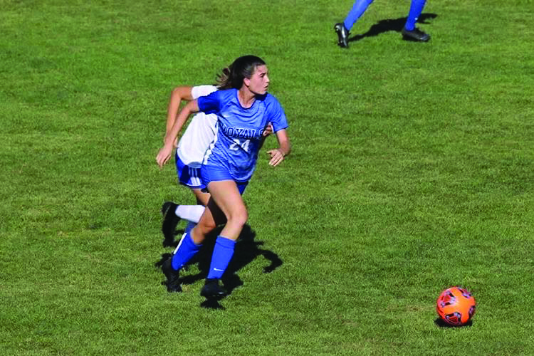 Hamilton Southeastern's Emma Dalton advances the ball upfield the field during a match. | SUBMITTED BY EMMA DALTON