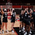 The Governors celebrate their season sweep over rival Mu**ay State. ROBERT SMITH | APSU ATHLETICS