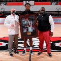Terry Taylor was honored as APSU's all-time leading scorer on Feb. 13. ROBERT SMITH | APSU ATHLETICS