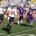 Draylen Ellis (9) was one of two starting quarterbacks in Sunday's loss to Tennessee Tech. CASEY CRIGGER | APSU ATHLETICS