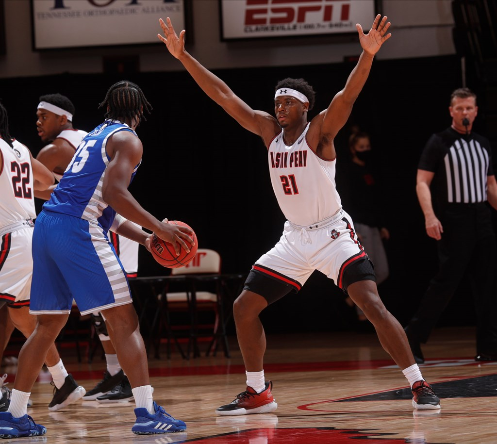 Austin Peay lost to Eastern Illinois 76-69 during OVC action Saturday at the Dunn Center. ROBERT SMITH | APSU ATHLETICS