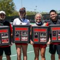 Austin Peay tennis celebrated Senior Day between the women's and men's matches against Eastern Illinois at the Governors Tennis Courts. ERIC ELLIOT | APSU ATHLETICS