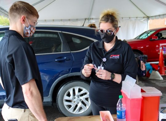 Vaccine challenge draws support from APSU students