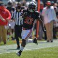 C.J. Evans runs down the sideline for a 64-yard score against the University of Cincinnati   APSU SPORTS INFORMATION