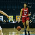 Keisha Gregory takes the ball up the floor in the 2018 OVC Quarterfinals. | THE ALL STATE ARCHIVES