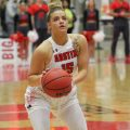 Kasey Kidwell attempts a free throw for the APSU women's basketball team. | THE ALL STATE ARCHIVES