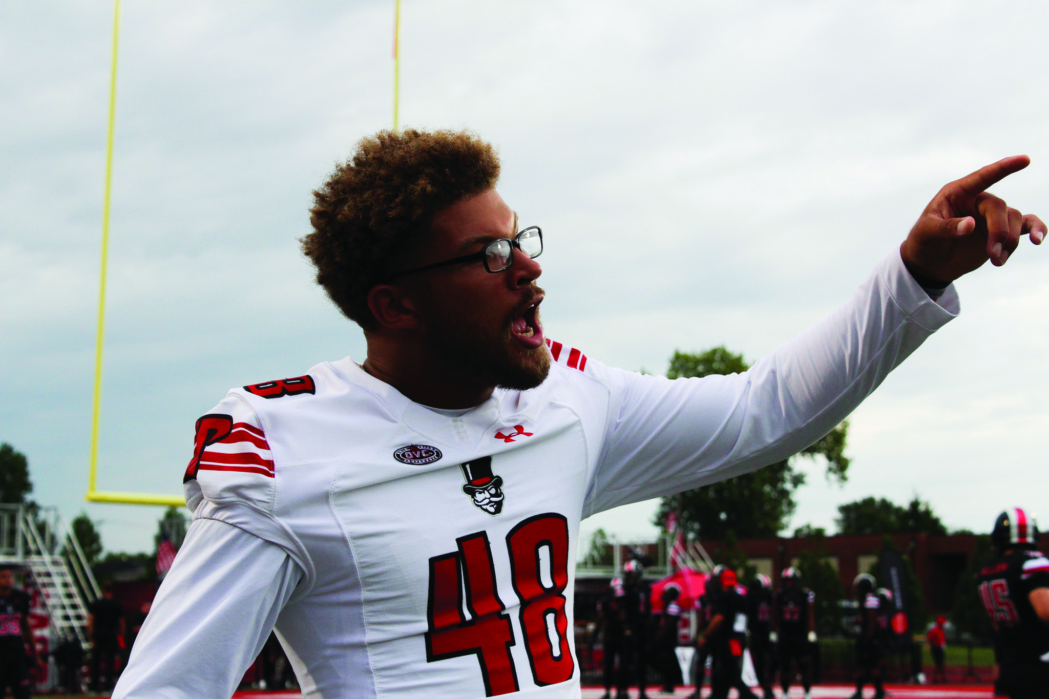Shaun Whittinghill shouts from the sidelines in the 2018 season opener.| THE ALL STATE ARCHIVES