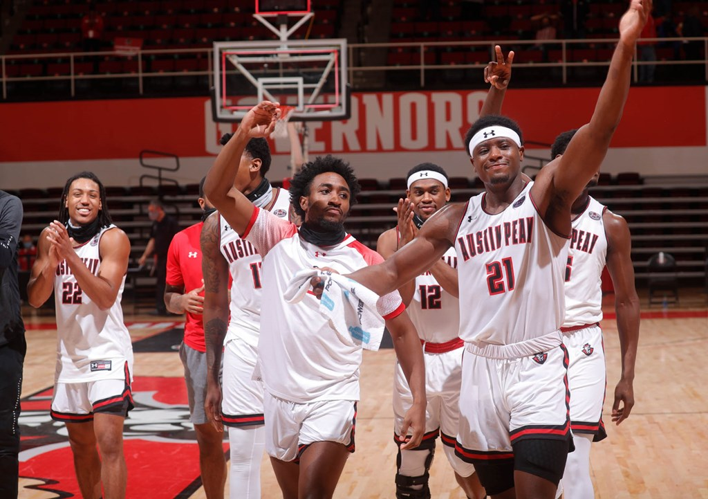 Austin Peay defeated Murray 74-70 during OVC action Monday night at the Dunn Center. ROBERT SMITH | APSU SPORTS INFORMATION