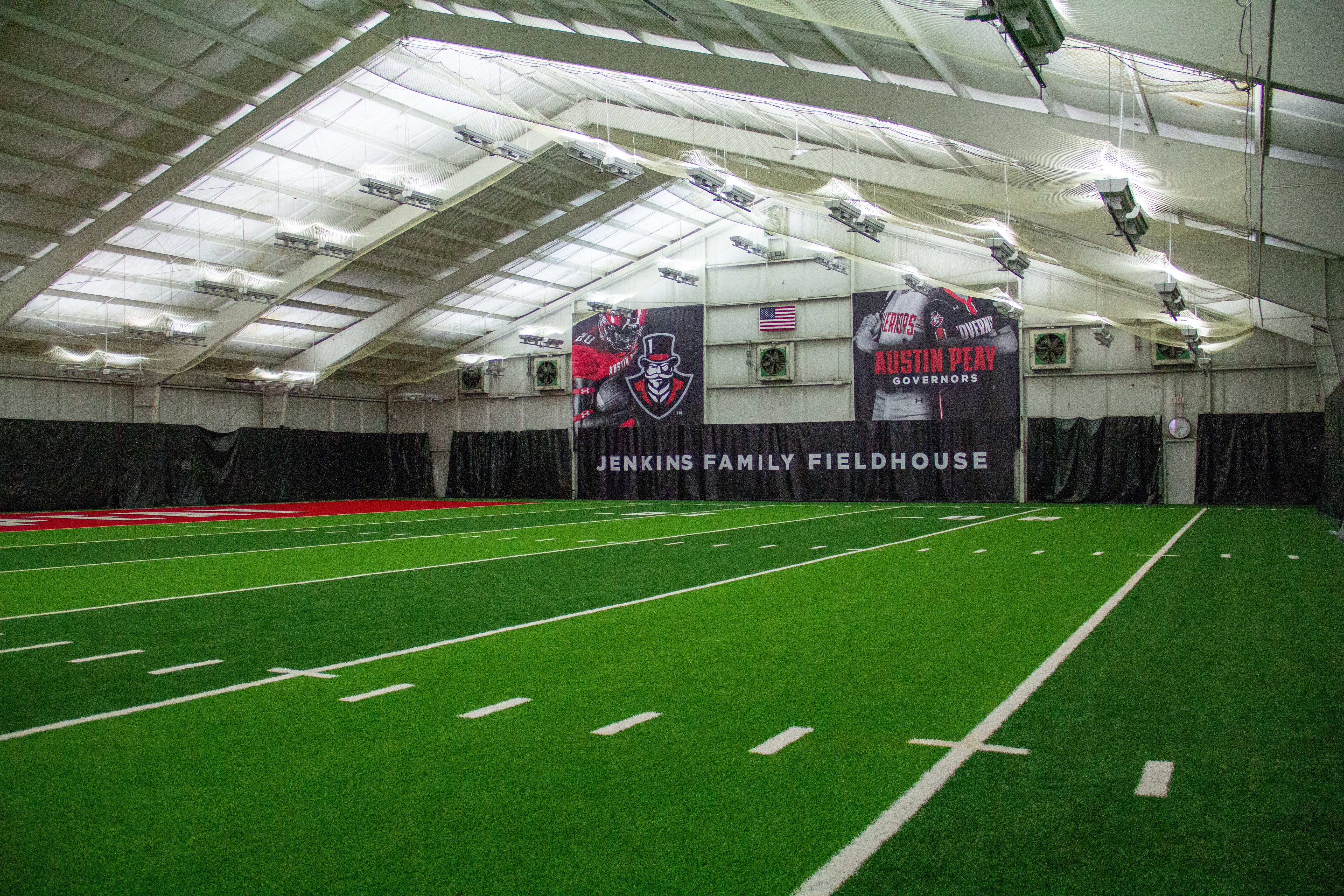 The Jenkins Family Fieldhouse was converted from a tennis facility into a multi-sport indoor fieldhouse. NICHOLE BARNES | THE ALL STATE