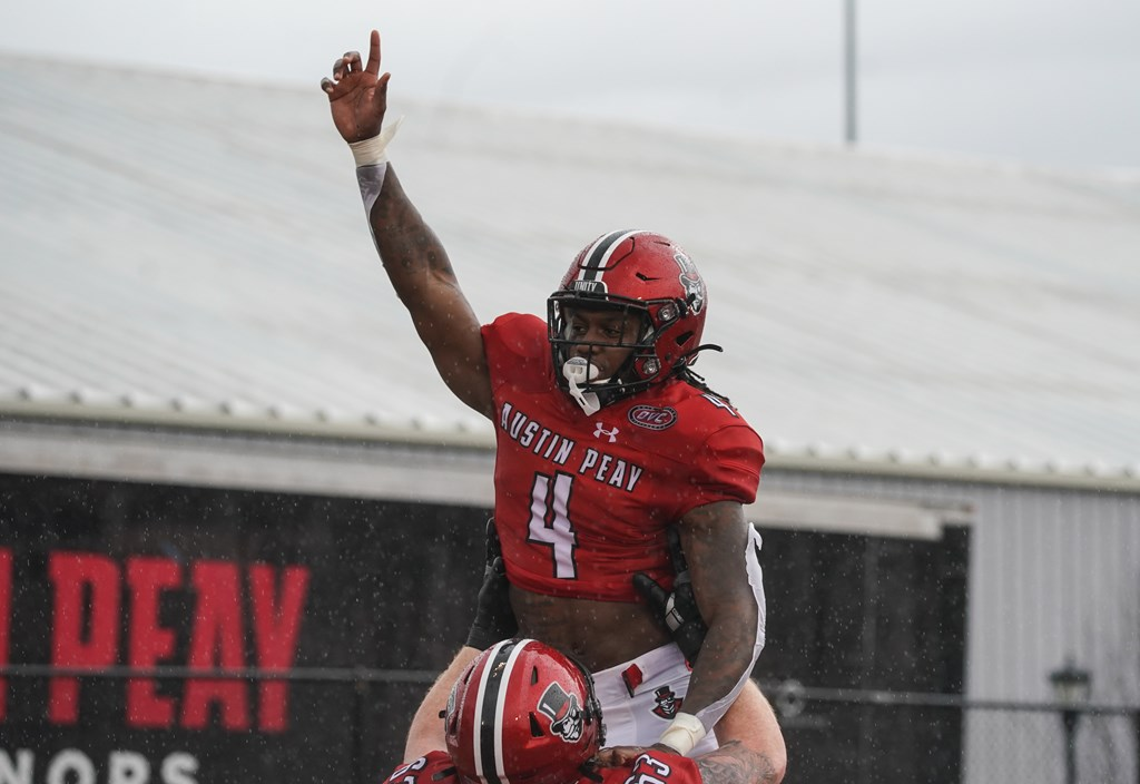 Brian Snead accounted for three touchdowns in the APSU home opener against Tennessee State. CARDER HENRY | APSU ATHLETICS