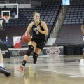 Ella Sawyer drives to the rim in the Governors' OVC Tournament game against Belmont. MICHAEL DANN | OVC ATHLETICS