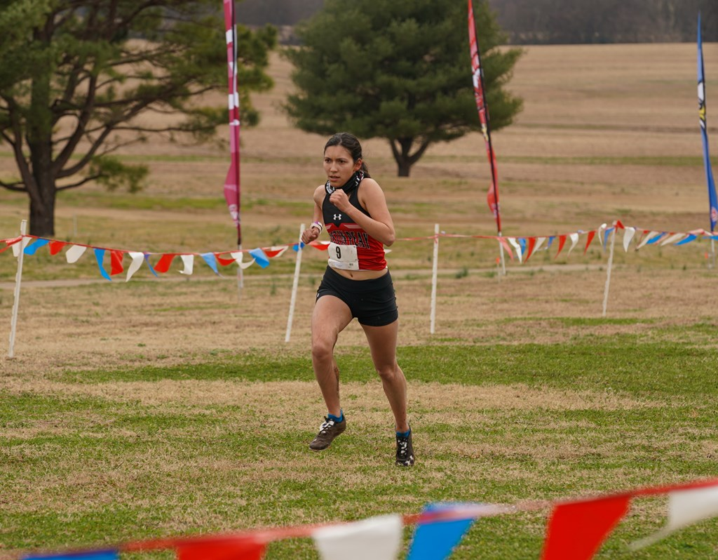 Junior Sara Martin led APSU in the women's OVC championship with a 31st place finish. Carder Henry | APSU Athletics