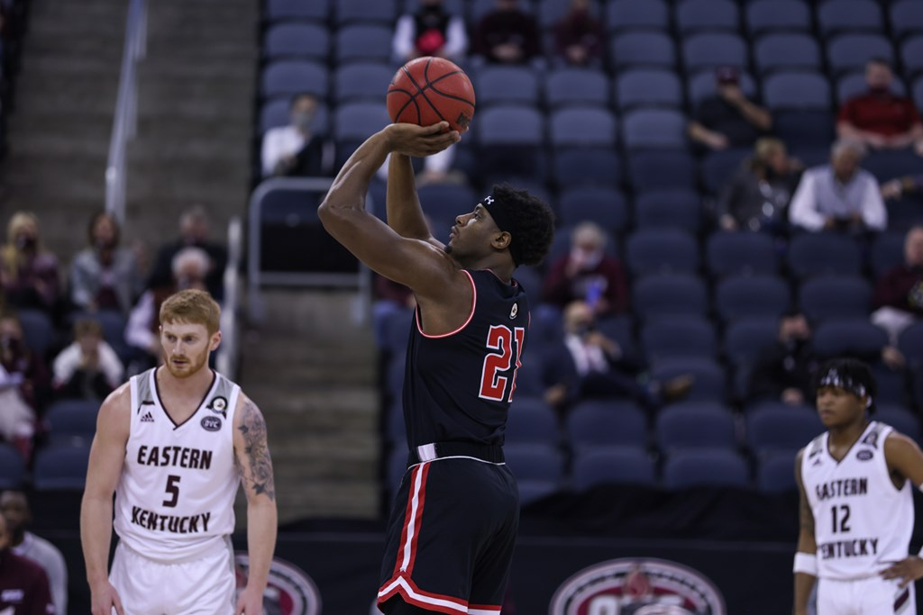 The APSU men's basketball team saw its season come to an end against Eastern Kentucky in the OVC Tournament. CARDER HENRY | APSU ATHLETICS