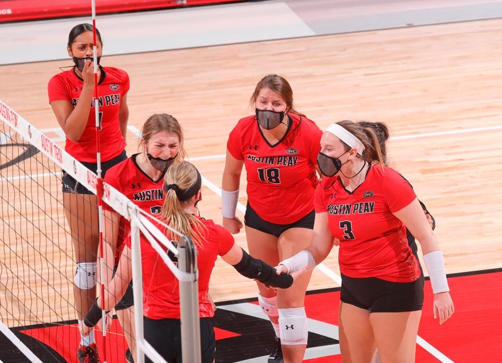 APSU volleyball's senior class is building familiarity alongside success this season. ROBERT SMITH | APSU ATHLETICS