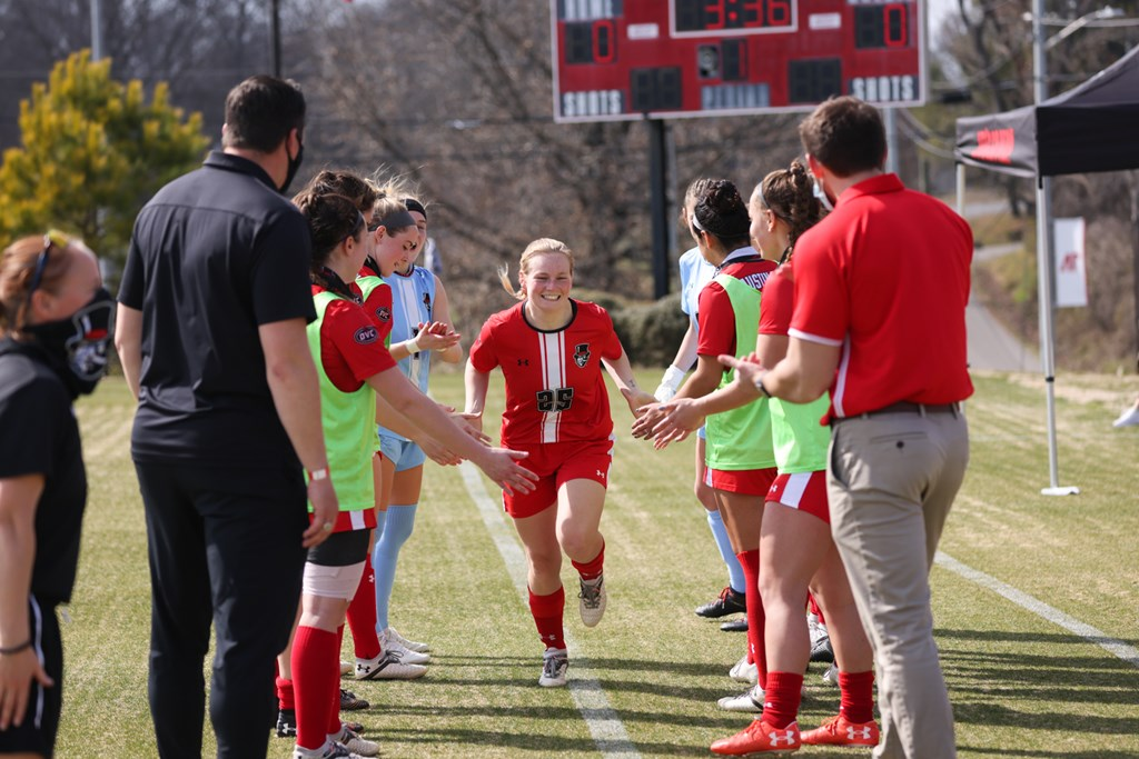 Ashley Whittaker recorded APSU's game-winning goal in a double-overtime win against JSU on Tuesday, March 9. CARDER HENRY | APSU ATHLETICS