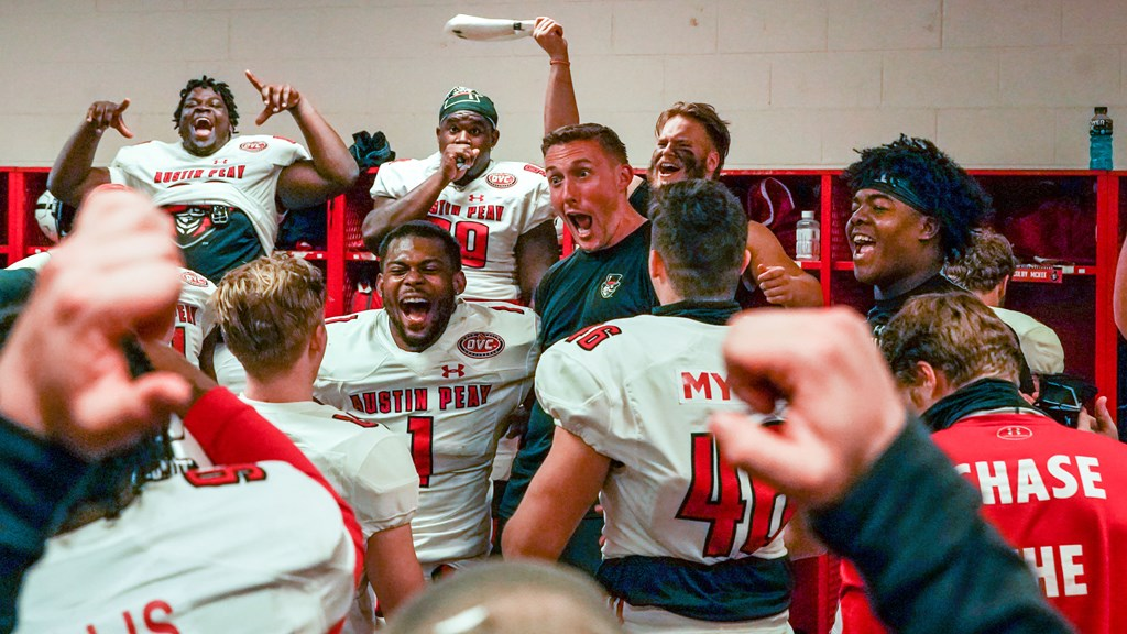 Scotty Walden and the APSU football team picked up their first win at Jacksonville State since 1979 on Sunday, March 28. ERIC ELLIOT | APSU ATHLETICS