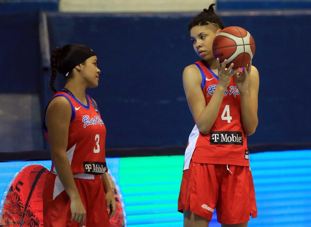 Arielle Gonzalez-Varner (4) and Nina De Leon Negron (3) are each a part of the 2021 Puerto Rico National Team. | FIBA BASKETBALL